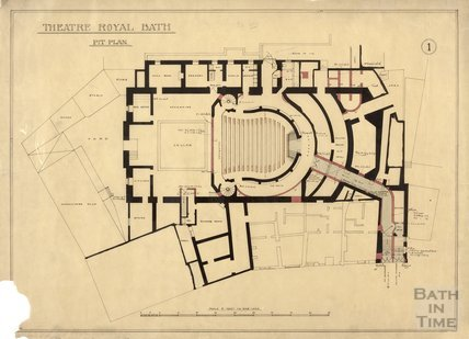 Theatre Royal - pit plan - no.1, ?1914
