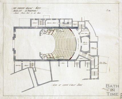 Theatre Royal proposed alterations - plan at Upper Circle level - no.35 - AJ Taylor May 1914