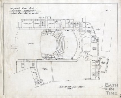 Theatre Royal proposed alterations - plan at Old Dress Circle level - AJ Taylor May 1914