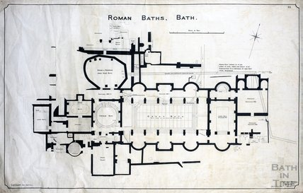Roman Baths - plan - no.113 - AJ Taylor September 1904