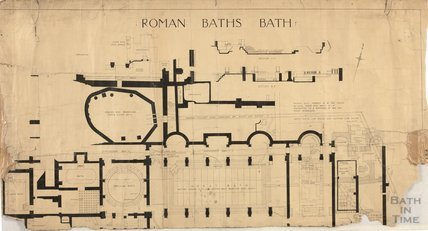 Roman Baths - plan - AJ Taylor, Sept 1904