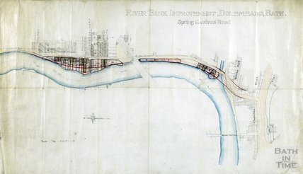 Riverbank improvement, Dolemeads, Spring Gardens Road to Waterloo Buildings - Charles R Fortune February 1895