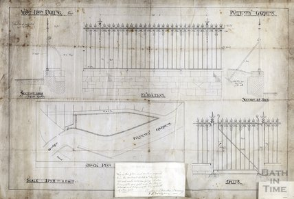 Wrought iron railings for Pulteney Gardens - Charles R Fortune April 1901