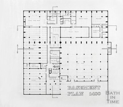 Proposed Library building for Podium site, Northgate Street - basement plan, ?mid 1980s