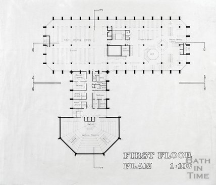 Proposed Library building for Podium site, Northgate Street - first floor plan, ?mid 1980s