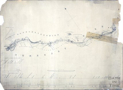 Plan of Great Western Railway line Bath to Bristol c.1909?
