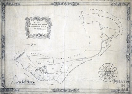 A survey of an estate in the parish of Langridge belonging to Mr John Gunning of Torney's Court. Surveyed and mapped by John Hinde 1755