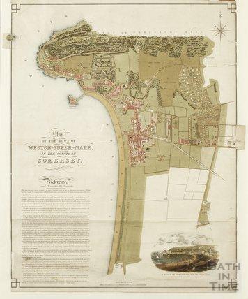 Plan of the town of Weston Super Mare - Joseph White, surveyor c.1853