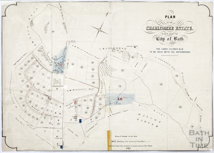 Plan of the Charlcombe estate, related to waterworks 1863