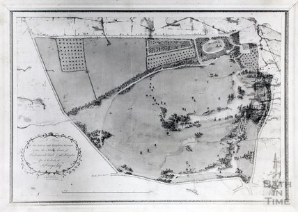 Plan of the lawn and pleasure ground before the north front of Richmond Hall, East Harptree Court, East Harptree, one of the seats of J. Scrope Esq. - C. Harcourt Masters  c.1790s?