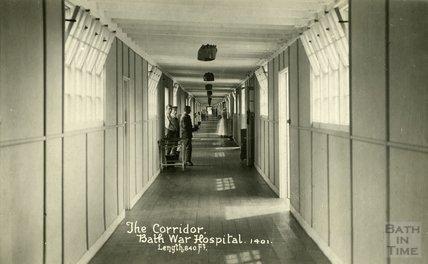 The Corridor, Bath War Hospital, Combe Park, Bath c.1916
