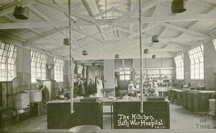 The Kitchen, Bath War Hospital, Combe Park, Bath c.1916