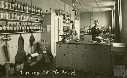 The Dispensary, Bath War Hospital, Combe Park, Bath c.1916