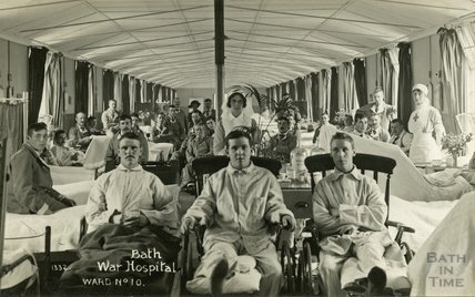 Ward no. 10, Bath War Hospital, Combe Park, Bath c.1916