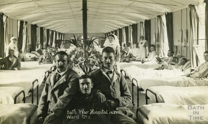 Ward No. 1, Bath War Hospital, Combe Park, Bath c.1916