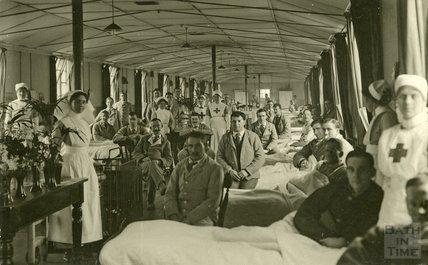 Unknown Ward, Bath War Hospital, Combe Park, Bath c.1916