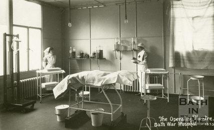 Operating Theatre, Bath War Hospital, Combe Park, Bath c.1916
