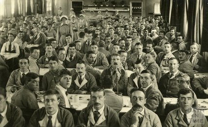 Inside the canteen, Bath War Hospital, Combe Park, Bath c.1916