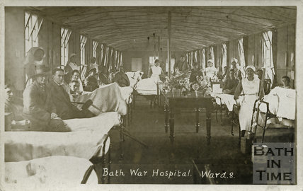Ward No. 8, Bath War Hospital, Combe Park, Bath c.1916