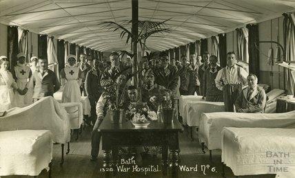 Ward No. 6, Bath War Hospital, Combe Park, Bath c.1916