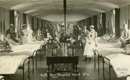 Ward No. 4, Bath War Hospital, Combe Park, Bath c.1916