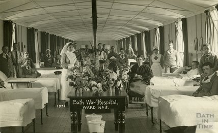 Ward No. 5, Bath War Hospital, Combe Park, Bath c.1916