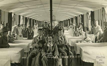 Ward No. 7, Bath War Hospital, Combe Park, Bath c.1916
