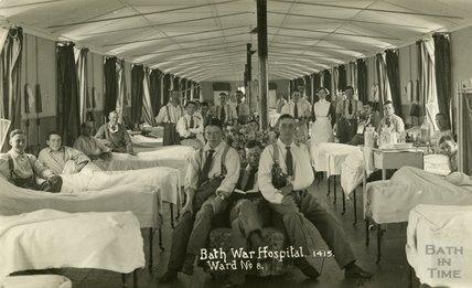 Ward No.8, Bath War Hospital, Combe Park, Bath c.1916