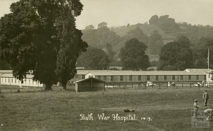 General view, Bath War Hospital, Combe Park, Bath c.1916