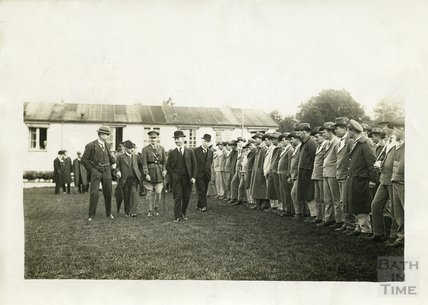 Inspection at Bath War Hospital, Combe Park, Bath c.1916
