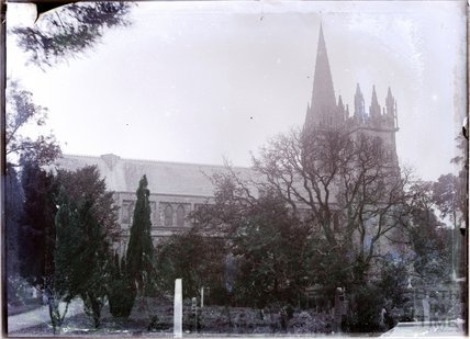 Llandaff cathedral, near Cardiff, c.1902