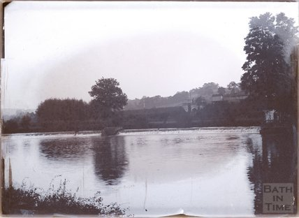 Kelston for Saltford Railway Station and Saltford Weir, near Bath, c.1902