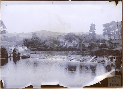 Kelston Mills with Kelston Round Hill in the distance., c.1902