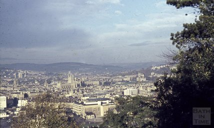 Bath from Beechen Cliff, 1963