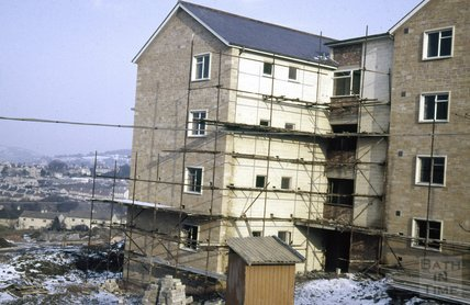 New houses being built in Monksdale Road, Bath, 1963