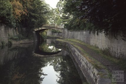 Kennet and Avon Canal, Sydney Gardens, Bath 1963