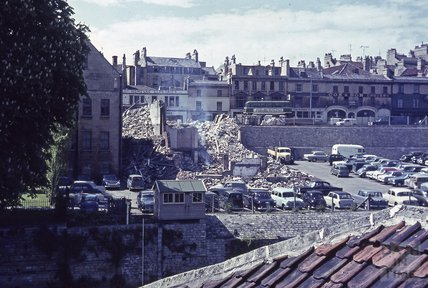 Rear view of Walcot Street from Goodall & Dawson, Grove Street, 1963