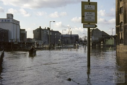 Bath Floods, Broad Quay, 1963