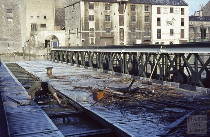 Bath Floods, the Wessex temporary bridge, 1963