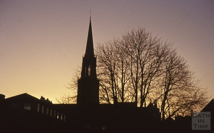 St Michael's Church at sunset, 1963