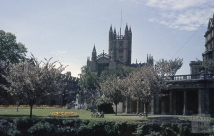 Bath Abbey from Parade Gardens, 1964