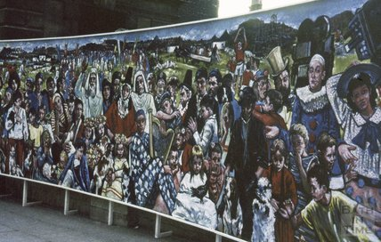 Bath Festival mural, Abbey Church Yard, 1964