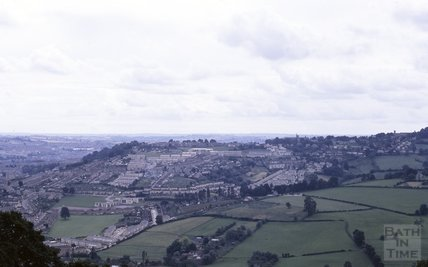 Bath from Little Solsbury Hill, looking towards Fairfield Park and Lansdown, 1969