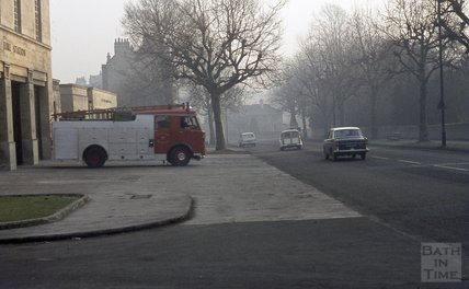 Bath Fire Station, Bathwick Street, 1969