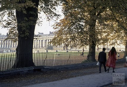 Royal Crescent from the Gravel Walk, 1970