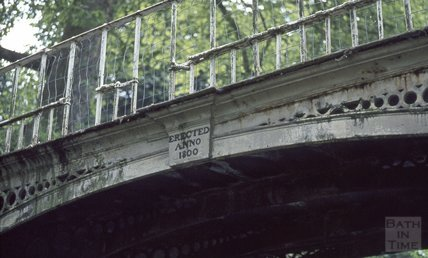 Decorative bridge over the Kennet and Avon Canal, Sydney Gardens, Bath 1971