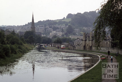 Kennet and Avon Canal, Widcombe, Bath 1971