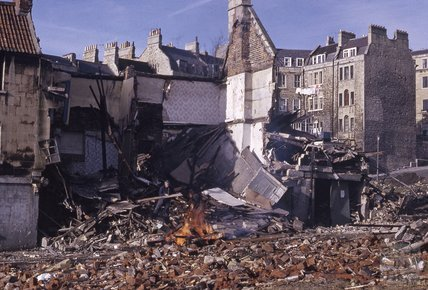 The demolition of Lampards Buildings, c.1973