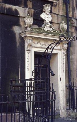 Doorway, Alfred Street, Bath, 1974
