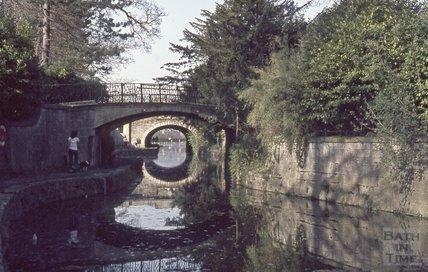 Kennet and Avon Canal, Sydney Gardens, Bath 1974